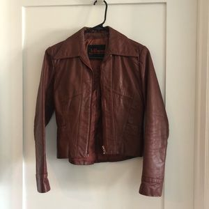 Wilson Vintage Red Leather Jacket